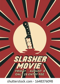 Slasher Movie Poster  Template that can be used as flyer and any advertisement