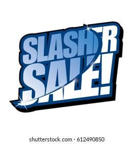 Slasher Sale Vector Headline