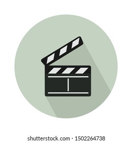 slate black board flat icon - From Movie and film icons set