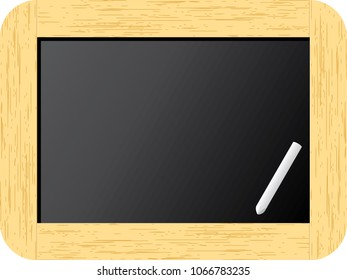 Slate board with wood frame