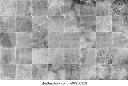 Slate tile ceramic, seamless texture square light gray map, vector graphics