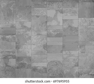 Slate tile, seamless texture light gray map, vector graphic