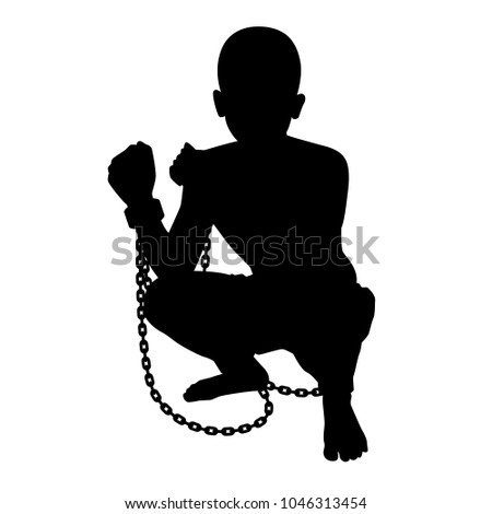 slave silhouette vector stock vector royalty free 1046313454