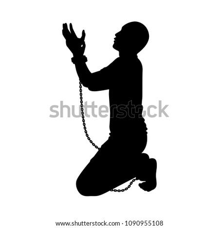 slave silhouette vector stock vector royalty free 1090955108