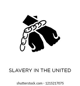 slavery in the united states icon. slavery in the united states symbol design from United states of america collection. Simple element vector illustration on white background.
