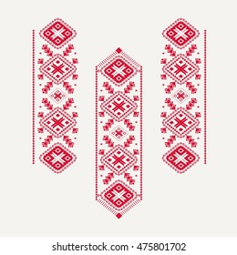 Slavic embroidery pattern