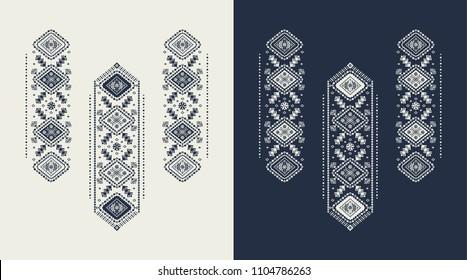 Slavic embroidery  shape flower vector