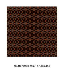 Slavic god Perun - brown pattern, symbols of Perun - vector,