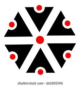 Slavic god Perun - icon, symbols of Perun, Slavic amulets - vector,