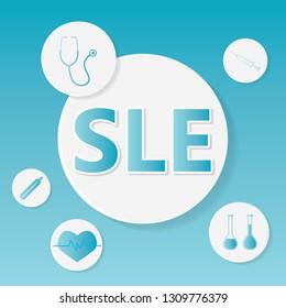 SLE (Systemic Lupus Erythematosus) medical concept- vector illustration