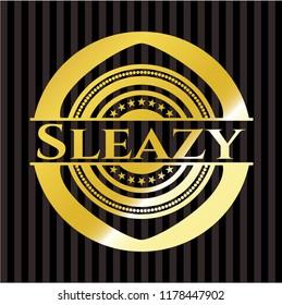 Sleazy gold badge
