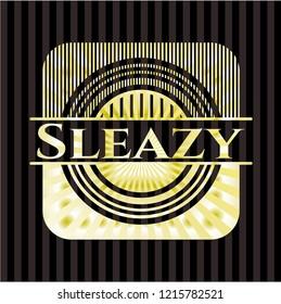 Sleazy gold shiny emblem
