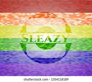 Sleazy lgbt colors emblem