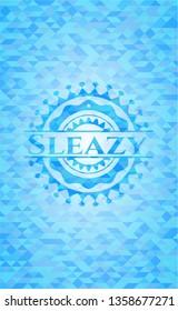 Sleazy light blue mosaic emblem