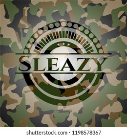 Sleazy on camouflage texture