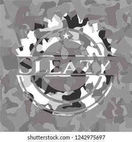 Sleazy on grey camouflage pattern