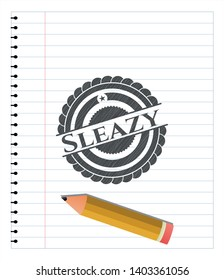 Sleazy pencil effect. Vector Illustration. Detailed.