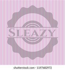 Sleazy pink emblem. Retro