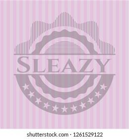 Sleazy pink emblem. Vintage.