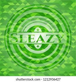 Sleazy realistic green mosaic emblem