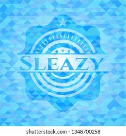 Sleazy realistic sky blue mosaic emblem