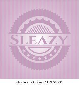 Sleazy retro pink emblem
