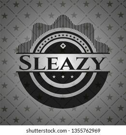Sleazy retro style black emblem