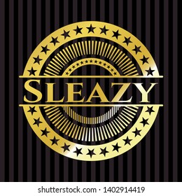 Sleazy shiny emblem. Vector Illustration. Detailed.