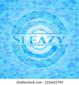 Sleazy sky blue mosaic emblem