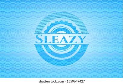 Sleazy sky blue water emblem.