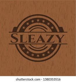 Sleazy vintage wooden emblem