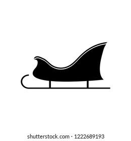 Sled icon, logo on white background