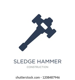 Sledge hammer icon. Trendy flat vector Sledge hammer icon on white background from Construction collection, vector illustration can be use for web and mobile, eps10