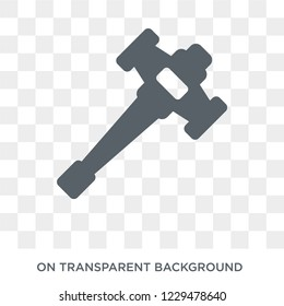 Sledge hammer icon. Trendy flat vector Sledge hammer icon on transparent background from Construction collection. High quality filled Sledge hammer symbol use for web and mobile