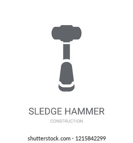 Sledge hammer icon. Trendy Sledge hammer logo concept on white background from Construction collection. Suitable for use on web apps, mobile apps and print media.
