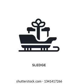 sledge isolated icon. simple element illustration from winter concept icons. sledge editable logo sign symbol design on white background. can be use for web and mobile