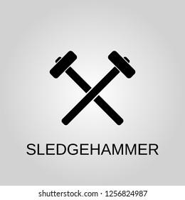 Sledgehammer icon. Sledgehammer concept symbol design. Stock - Vector illustration can be used for web