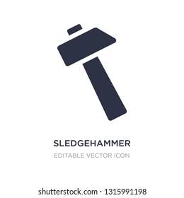sledgehammer icon on white background. Simple element illustration from General concept. sledgehammer icon symbol design.