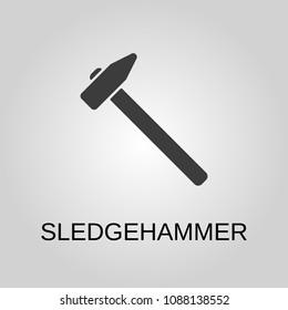 Sledgehammer icon. Sledgehammer symbol. Flat design. Stock - Vector illustration