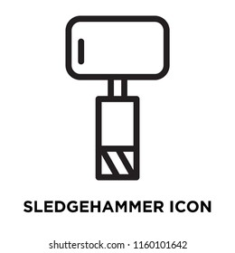 Sledgehammer icon vector isolated on white background, Sledgehammer transparent sign , line symbol or linear element design in outline style