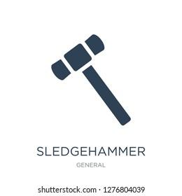 sledgehammer icon vector on white background, sledgehammer trendy filled icons from General collection, sledgehammer vector illustration