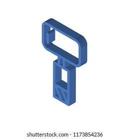 Sledgehammer isometric left top view 3D icon