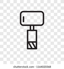 Sledgehammer vector icon isolated on transparent background, Sledgehammer logo concept
