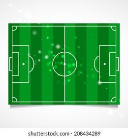 Sleek design of a football field. Vector.   Flag of the Libyan Arab Jamahiriya