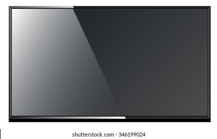 Sleek modern black TV