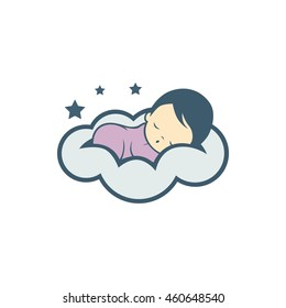 Sleep baby logo icon