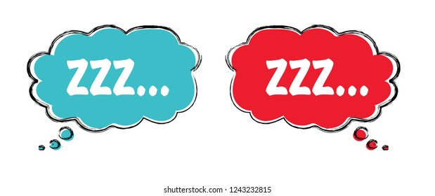 Sleep comic bubble zzz Sleeping bubble icon Vector Silence shhh no speech bubble no speaking no talking sign silhouette of please be quiet silent no talking flat icon whisper stop signs forbad  talk