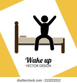 Sleep design over yellow background, vector illustration