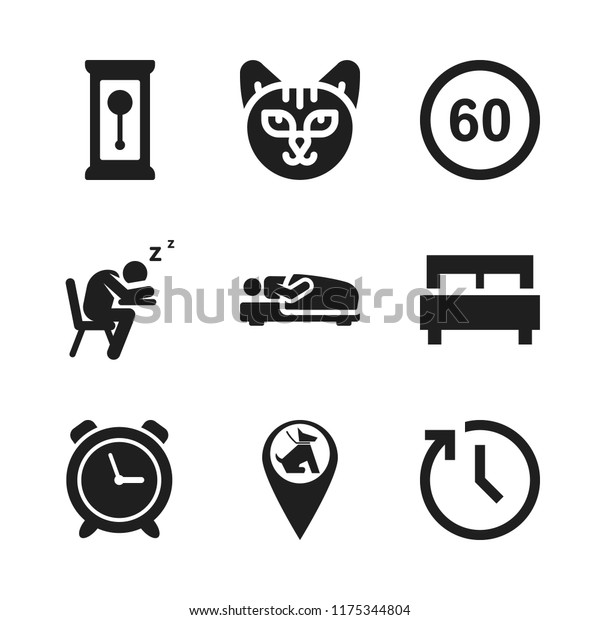 Sleep Icon 9 Sleep Vector Icons Stock Vector (Royalty Free) 1175344804