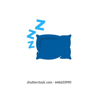 Sleep Icon Logo Design Element